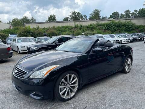 2009 Infiniti G37 Convertible for sale at Car Online in Roswell GA