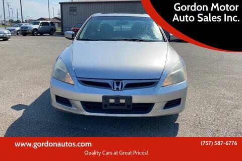 2006 Honda Accord for sale at Gordon Motor Auto Sales Inc. in Norfolk VA