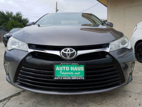 2016 Toyota Camry for sale at Auto Haus Imports in Grand Prairie TX