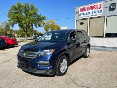 2018 Honda Pilot for sale at United Motors LLC in Saint Francis WI