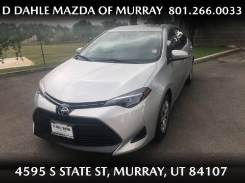 2017 Toyota Corolla for sale at D DAHLE MAZDA OF MURRAY in Salt Lake City UT