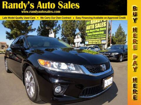 2015 Honda Accord for sale at Randy's Auto Sales in Ontario CA