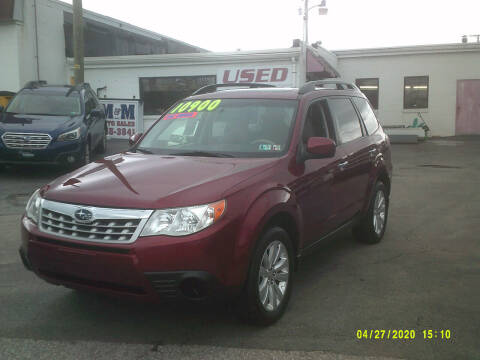 2011 Subaru Forester for sale at M & M Inc. of York in York PA