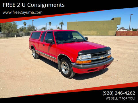 2001 Chevrolet S-10 for sale at FREE 2 U Consignments in Yuma AZ