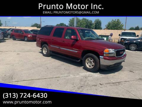 2006 GMC Yukon XL for sale at Prunto Motor Inc. in Dearborn MI
