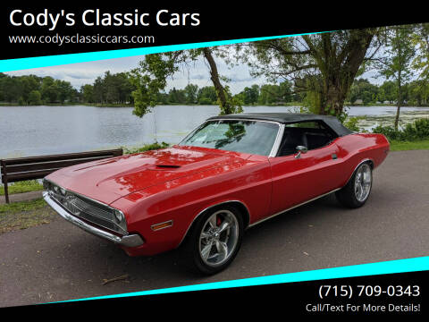 1970 Dodge Challenger for sale at Cody's Classic Cars in Stanley WI