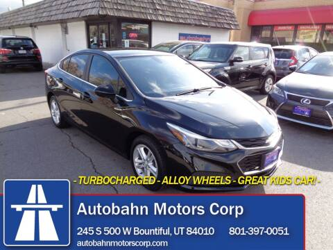 2016 Chevrolet Cruze for sale at Autobahn Motors Corp in Bountiful UT