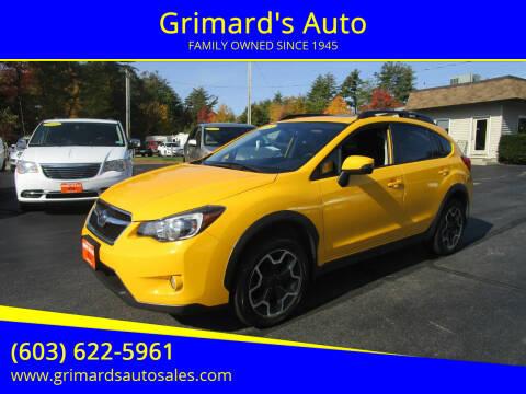 2015 Subaru XV Crosstrek for sale at Grimard's Auto in Hooksett, NH