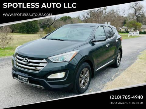 2013 Hyundai Santa Fe Sport for sale at SPOTLESS AUTO LLC in San Antonio TX
