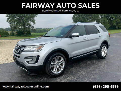 2016 Ford Explorer for sale at FAIRWAY AUTO SALES in Washington MO