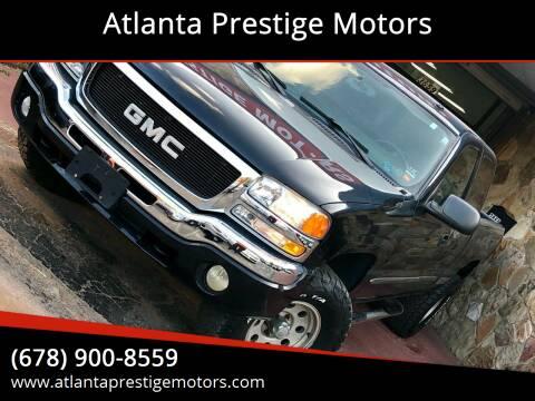 2004 GMC Sierra 1500 for sale at Atlanta Prestige Motors in Decatur GA