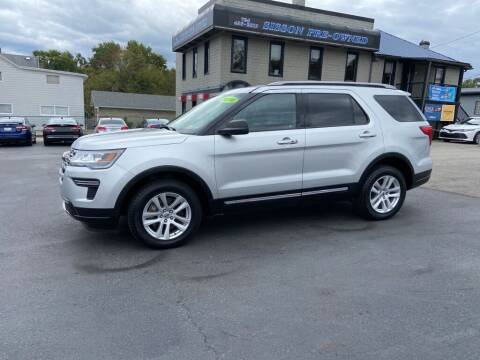 2018 Ford Explorer for sale at Sisson Pre-Owned in Uniontown PA