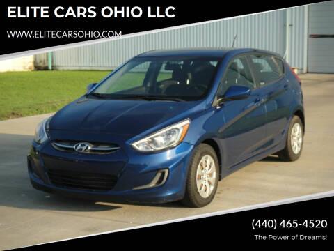 2016 Hyundai Accent for sale at ELITE CARS OHIO LLC in Solon OH