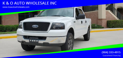 2005 Ford F-150 for sale at K & O AUTO WHOLESALE INC in Jacksonville FL