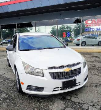 2013 Chevrolet Cruze for sale at Carz Unlimited in Richmond VA