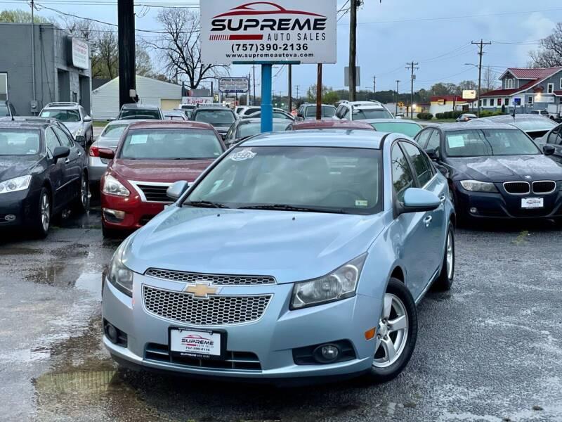 2011 Chevrolet Cruze for sale at Supreme Auto Sales in Chesapeake VA