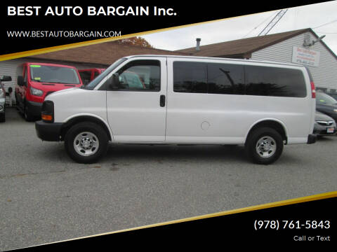 2015 Chevrolet Express Passenger for sale at BEST AUTO BARGAIN inc. in Lowell MA