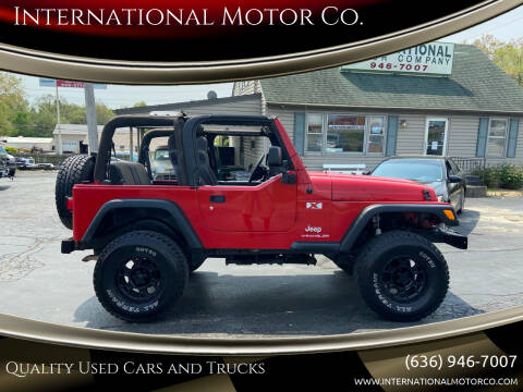 2006 Jeep Wrangler for sale at International Motor Co. in St. Charles MO