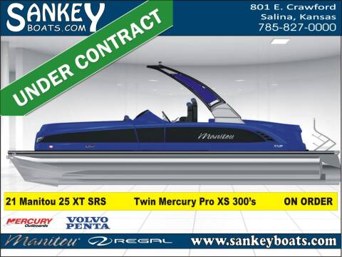 2021 Manitou 25 XT SRS Twin for sale at SankeyBoats.com in Salina KS