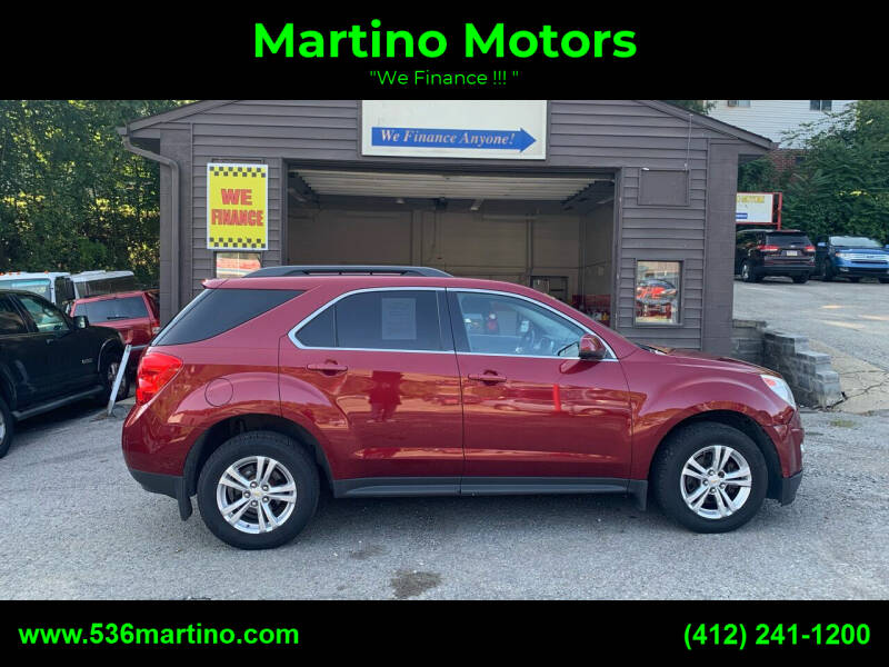 2012 Chevrolet Equinox for sale at Martino Motors in Pittsburgh PA