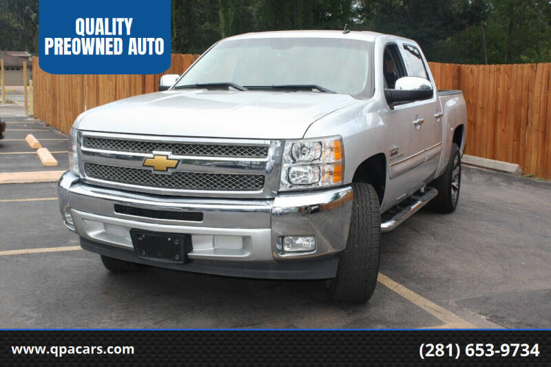 2012 Chevrolet Silverado 1500 for sale at QUALITY PREOWNED AUTO in Houston TX