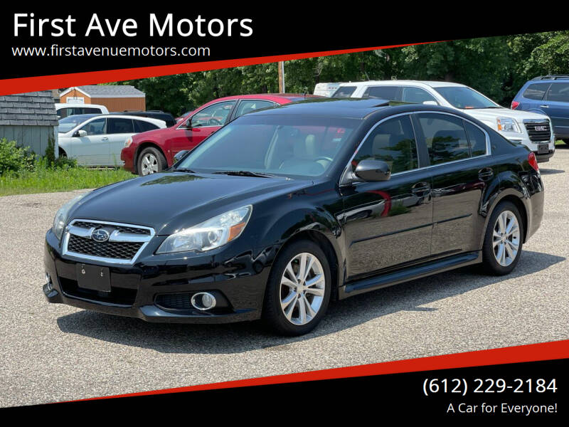 2013 Subaru Legacy for sale at First Ave Motors in Shakopee MN
