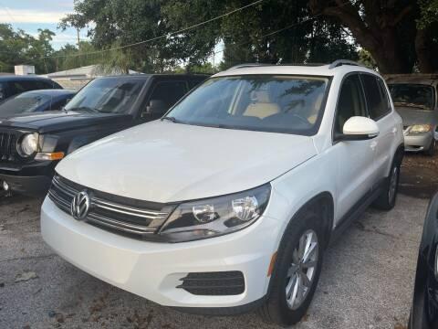 2017 Volkswagen Tiguan for sale at P J Auto Trading Inc in Orlando FL