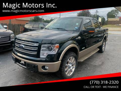 2013 Ford F-150 for sale at Magic Motors Inc. in Snellville GA
