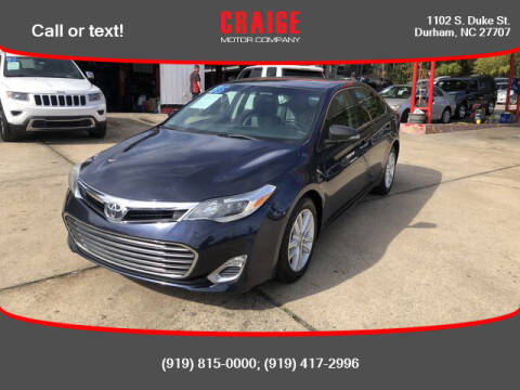 2015 Toyota Avalon for sale at CRAIGE MOTOR CO in Durham NC