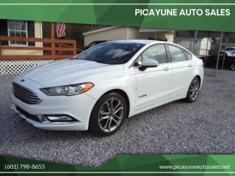 2017 Ford Fusion Hybrid for sale at PICAYUNE AUTO SALES in Picayune MS