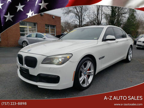 2012 BMW 7 Series for sale at A-Z Auto Sales in Newport News VA