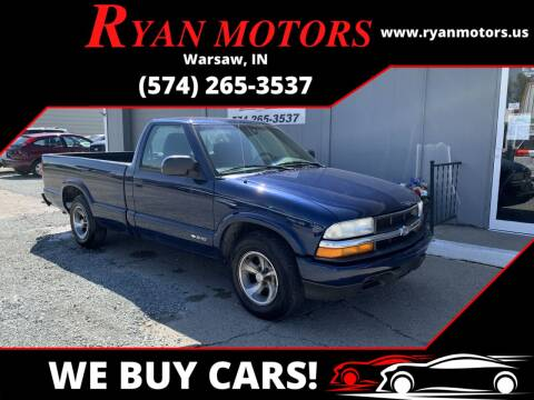 2003 Chevrolet S-10 for sale at Ryan Motors LLC in Warsaw IN