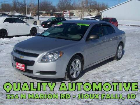 2012 Chevrolet Malibu for sale at Quality Automotive in Sioux Falls SD
