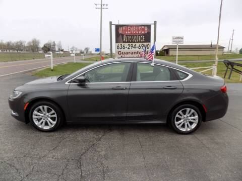 2015 Chrysler 200 for sale at MYLENBUSCH AUTO SOURCE in O` Fallon MO
