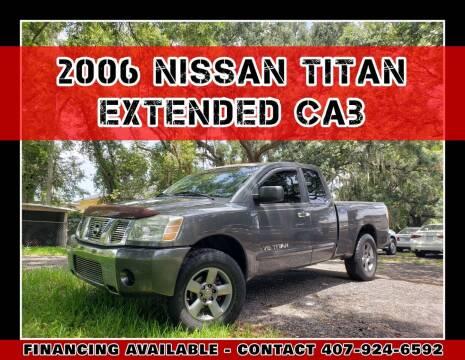 2006 Nissan Titan for sale at AFFORDABLE ONE LLC in Orlando FL