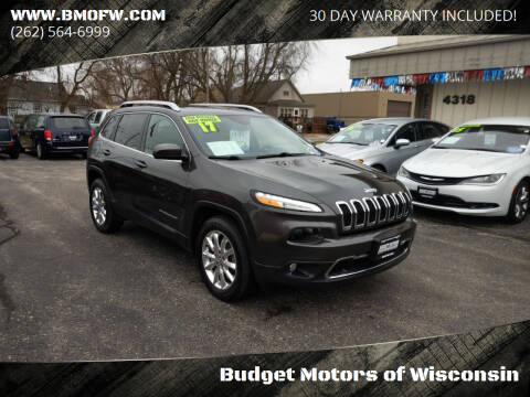 2017 Jeep Cherokee for sale at Budget Motors of Wisconsin in Racine WI