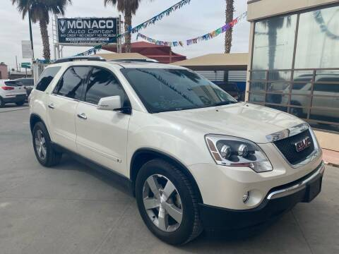 2009 GMC Acadia for sale at Monaco Auto Center LLC in El Paso TX