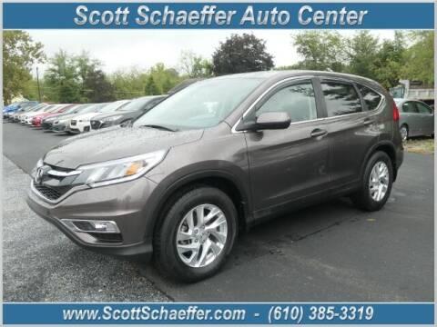 2015 Honda CR-V for sale at Scott Schaeffer Auto Center in Birdsboro PA