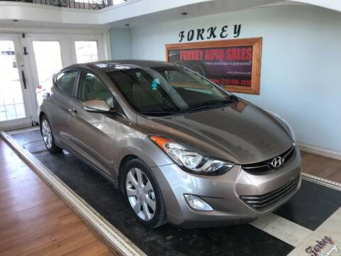 2013 Hyundai Elantra for sale at Forkey Auto & Trailer Sales in La Fargeville NY