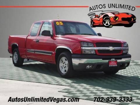 2005 Chevrolet Silverado 1500 for sale at Autos Unlimited in Las Vegas NV