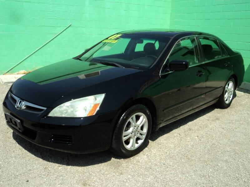 2007 Honda Accord for sale at DESERT AUTO TRADER in Las Vegas NV