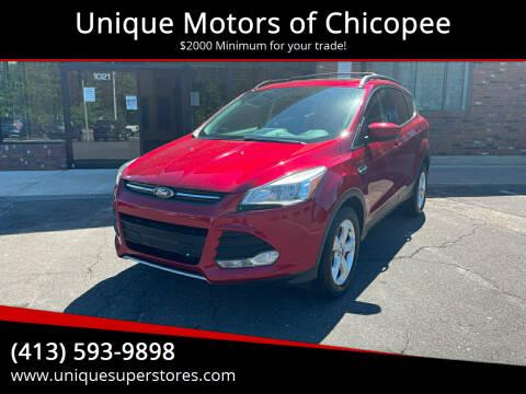 2013 Ford Escape for sale at Unique Motors of Chicopee in Chicopee MA