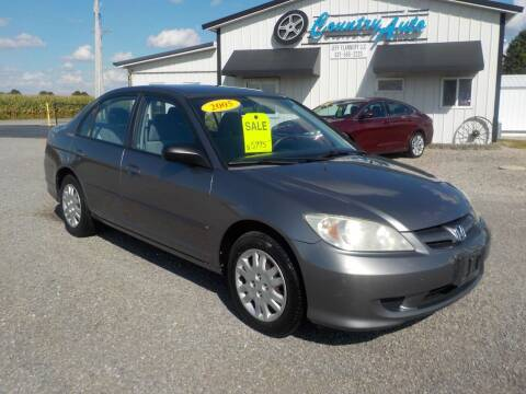 2005 Honda Civic for sale at Country Auto in Huntsville OH