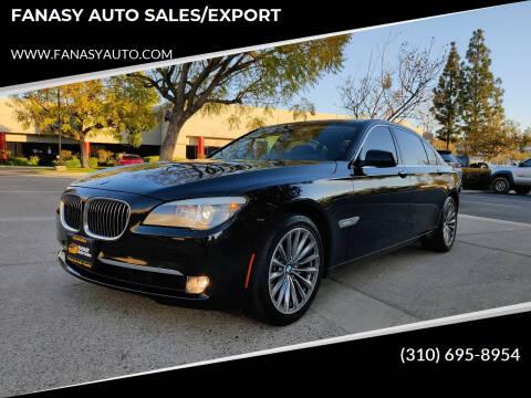 2011 BMW 7 Series for sale at FANASY AUTO SALES/EXPORT in Yorba Linda CA