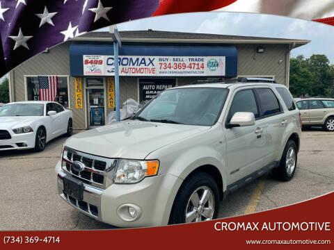 2008 Ford Escape for sale at Cromax Automotive in Ann Arbor MI