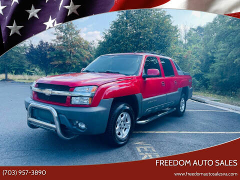 2002 Chevrolet Avalanche for sale at Freedom Auto Sales in Chantilly VA