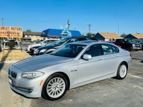 2013 BMW 5 Series for sale at Sunset Motors in Manteca CA