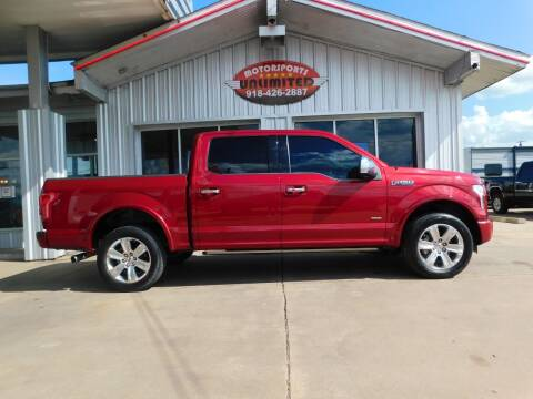 2015 Ford F-150 for sale at Motorsports Unlimited in McAlester OK
