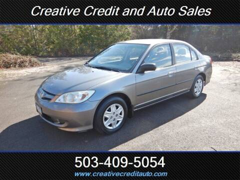 2004 Honda Civic for sale at Creative Credit & Auto Sales in Salem OR