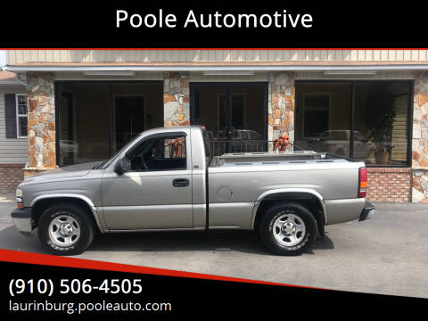 2000 Chevrolet Silverado 1500 for sale at Poole Automotive in Laurinburg NC